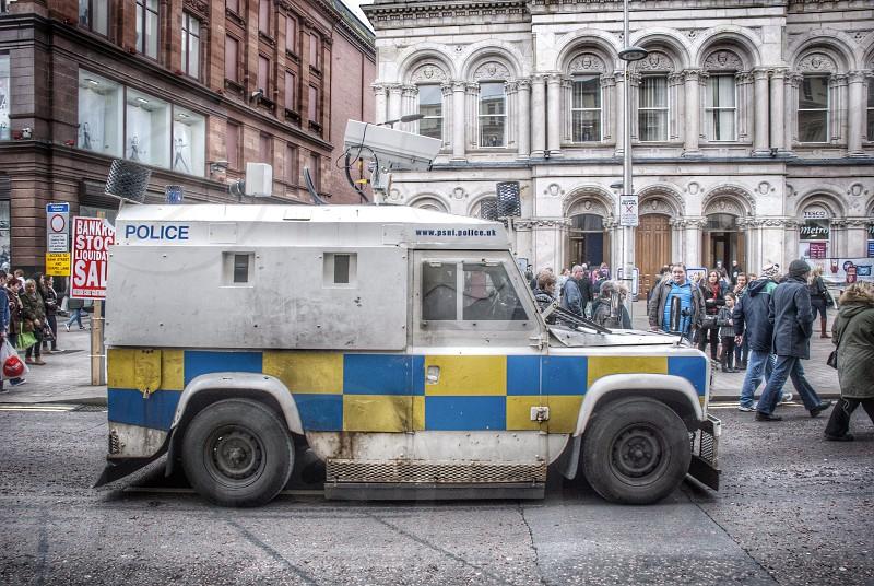 Police van Belfast Northern Ireland photo