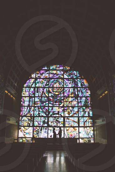 multicolored church decorative wall photo