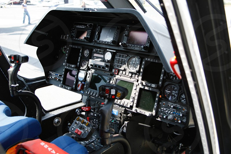 helicopter cockpit photo