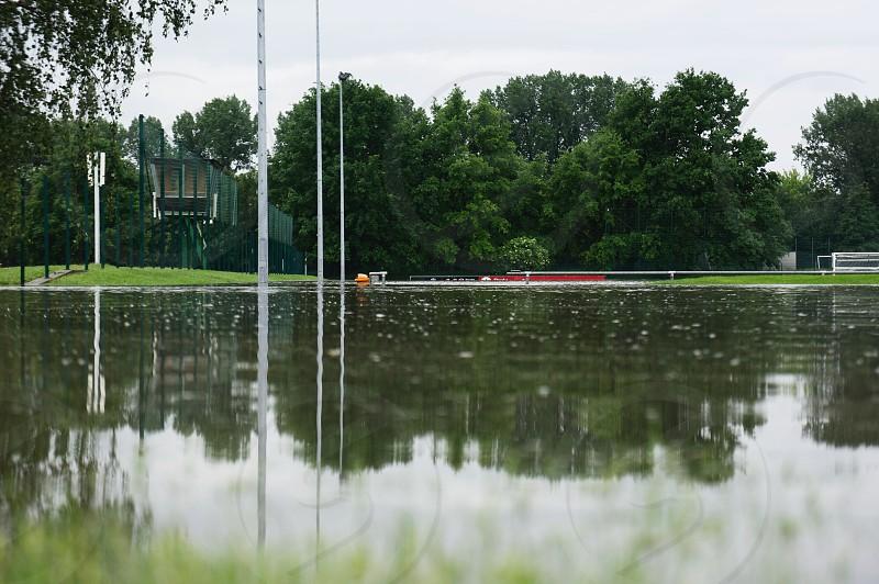 Flood: Soccer field  photo