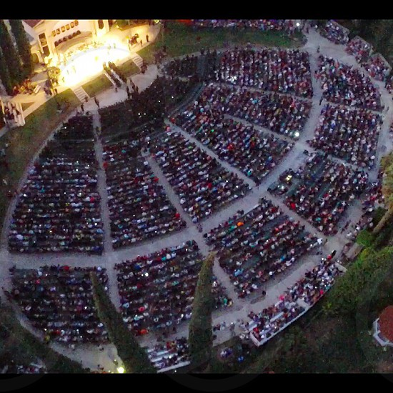 Aerial of the Redlands bowl during Citrus Valley High School's graduation. photo