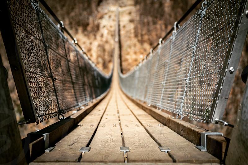 Tibetan bridge in Ticino Switzerland photo