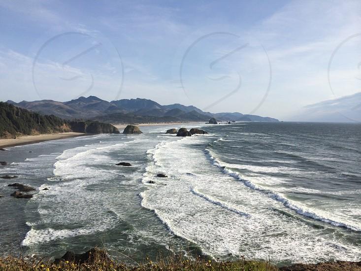 grey sea water photo
