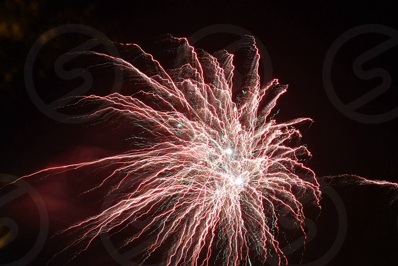 Long exposure firework photo