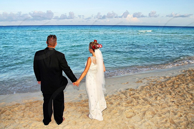 A Wedding couple beginning a new future together. photo