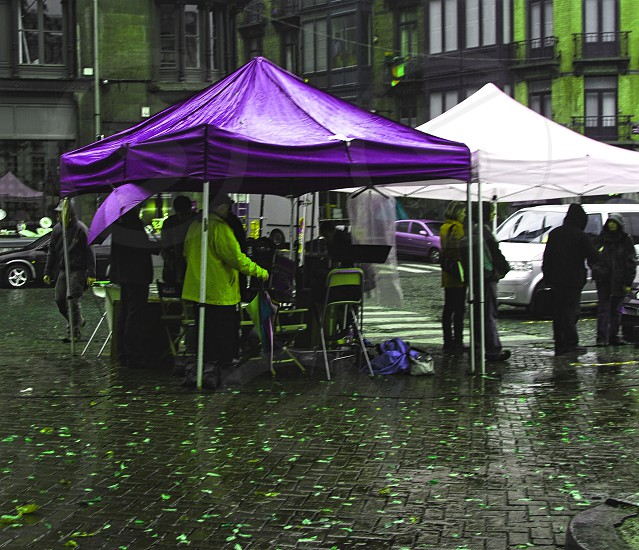 Rainy market day  photo