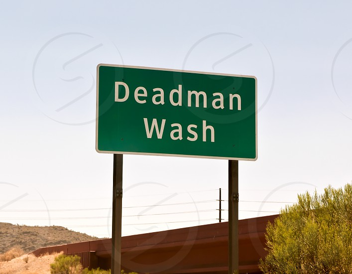 A strangely named dry creek in Arizona that implies that you can wash the dead here. photo