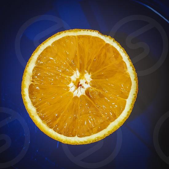 chopped orange fruit photo