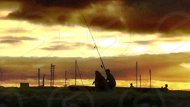 The Beauty and Peace of Fishing at Keehi Boat Pier Honolulu HI photo