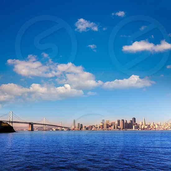 San Francisco skyline in California from Treasure Island USA photo