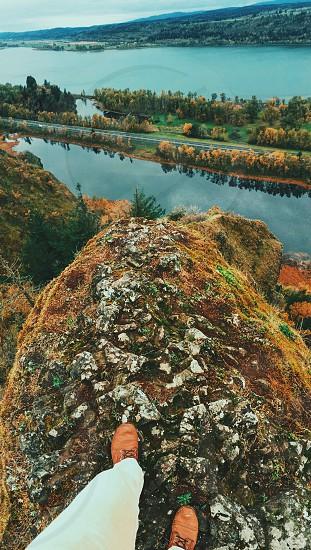 Cliff edge Portland nature pnw mountain rocks photo