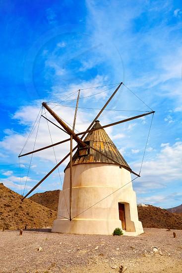 Almeria Molino de los Genoveses windmill traditional in Spain photo