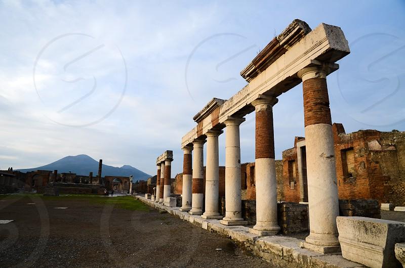 Forum in Pompeii in the Evening ( Italy ) photo