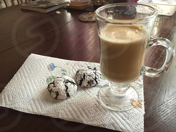 Coffee cookies chocolate home dining room purple son photo
