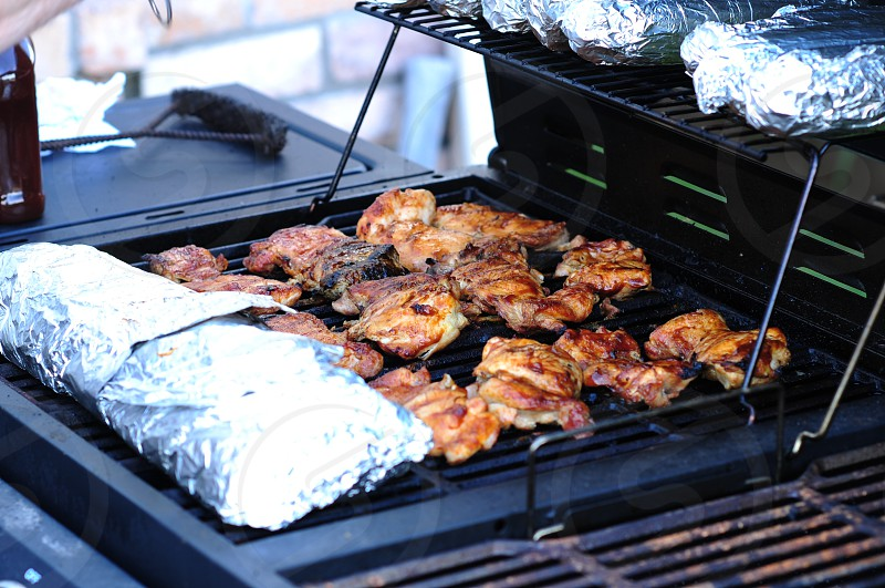 grilled barbecue chicken photo