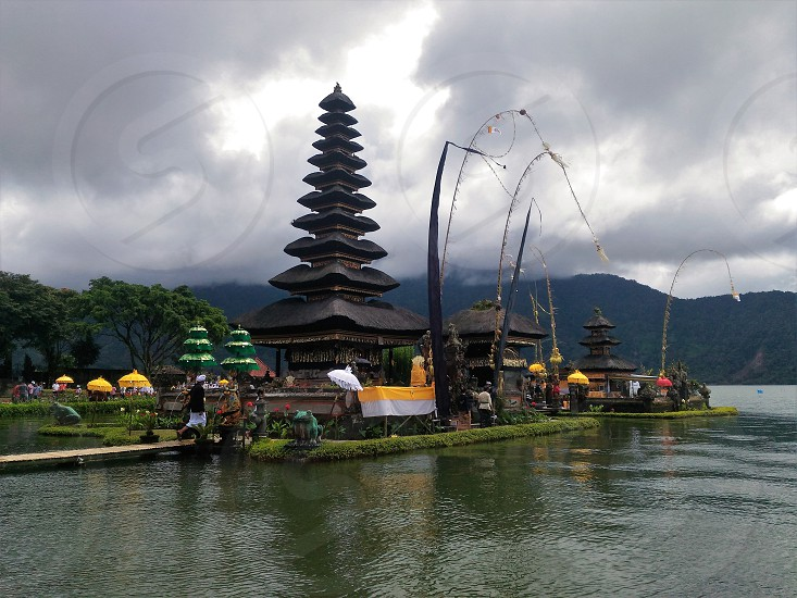 temple in bali photo