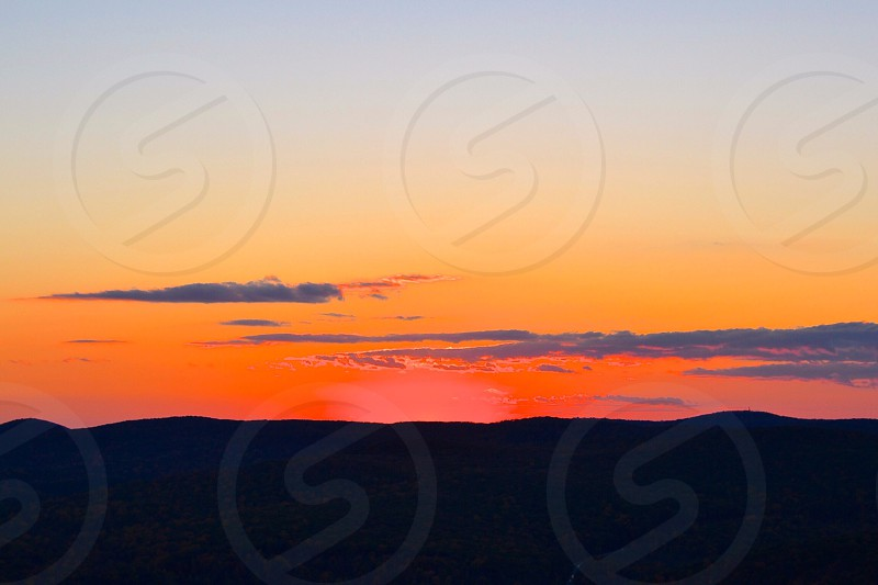 view of sunset over horizon photo