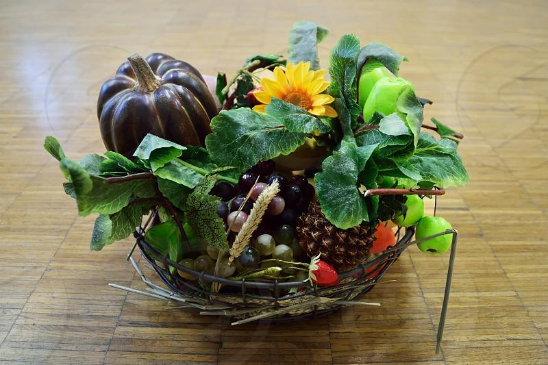 fruits and flowrs basket photo