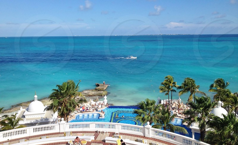 The luxury of Riu Palace Las Americas Cancun Mexico.  Luxury oceanfront beach pool all inclusive beautiful escape adult only perfect photo
