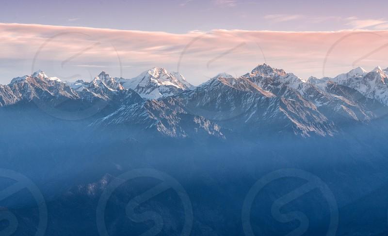 Sunrise and mountains photo