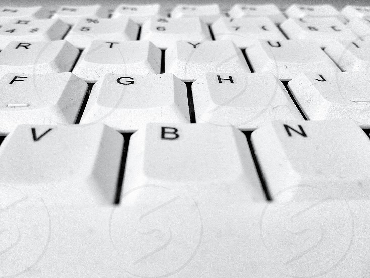 white computer keyboard photo
