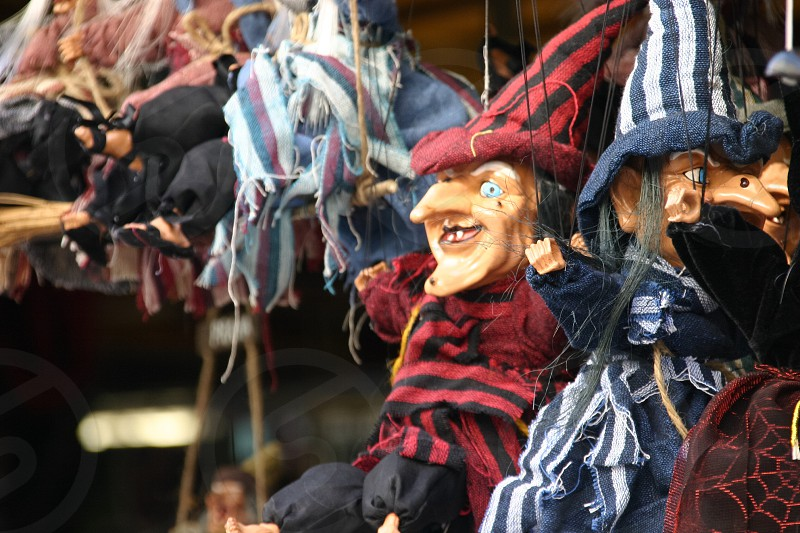 marionette puppets of witches photo