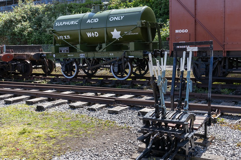 BRISTOL UK - MAY 14 : Railway rolling stock in the dockyard area of Bristol on May 14 2019 photo