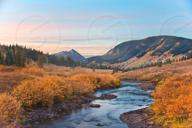 crested butte mountains stream riparian gunnison county photo
