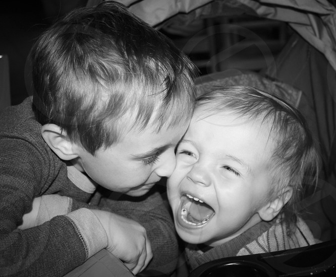 Brothers love siblings laughter children innocence unconditional best friends photo