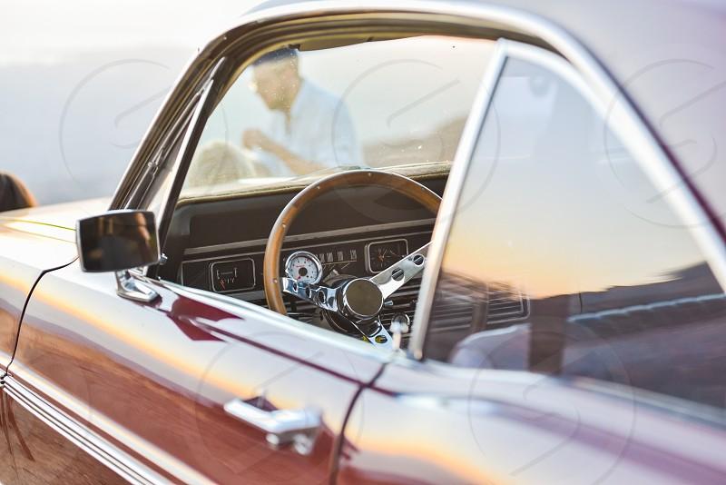 classic ford car dash picnic  photo