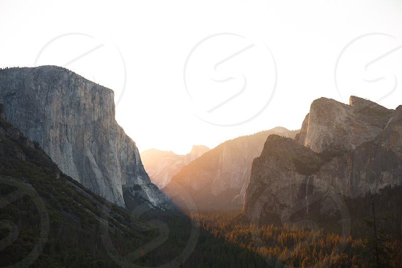 First light over the Yosemite Valley floor. photo