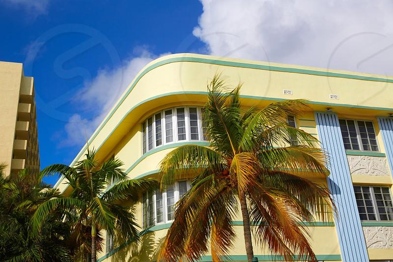 Miami Beach Ocean boulevard Art Deco district in florida USA photo