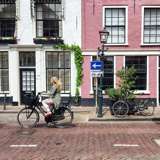 Haarlem holland Netherlands bike transportation photo