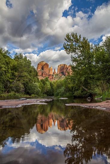 Cathedral Rock reflection — Sedona Arizona photo