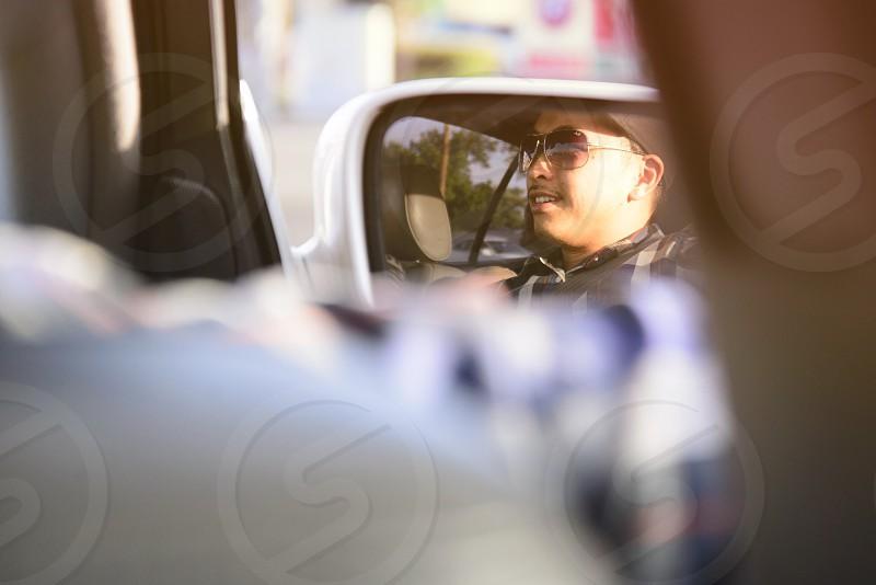 car white wing mirror photo