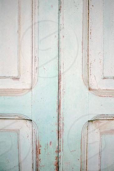 white wooden door photo