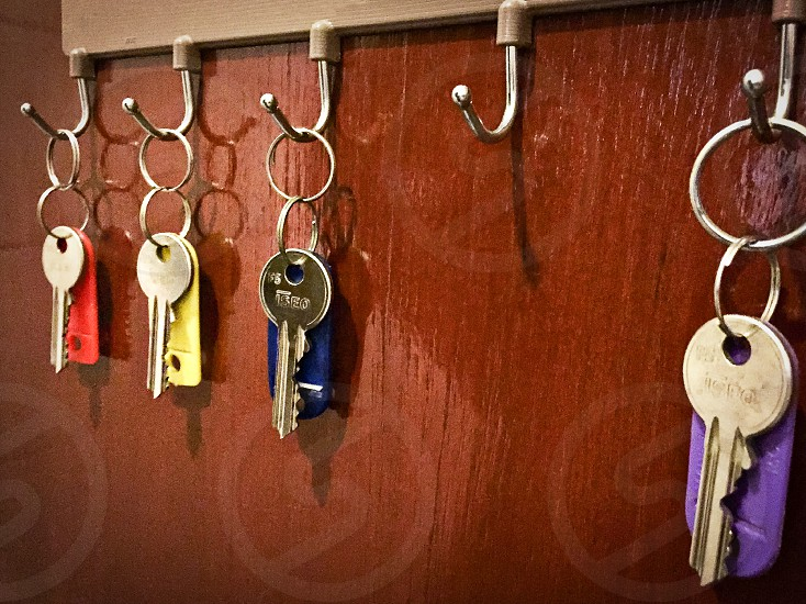 Keys accountability line up report for duty reliable hooks rack photo