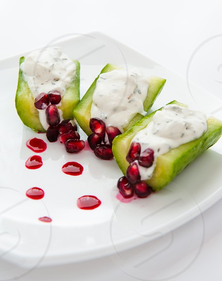 Cucumber and cheese photo