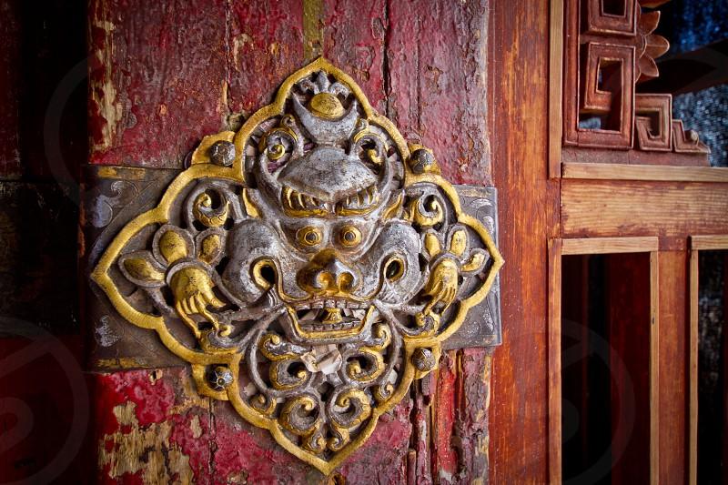 Door Potala Palace Tibet China photo