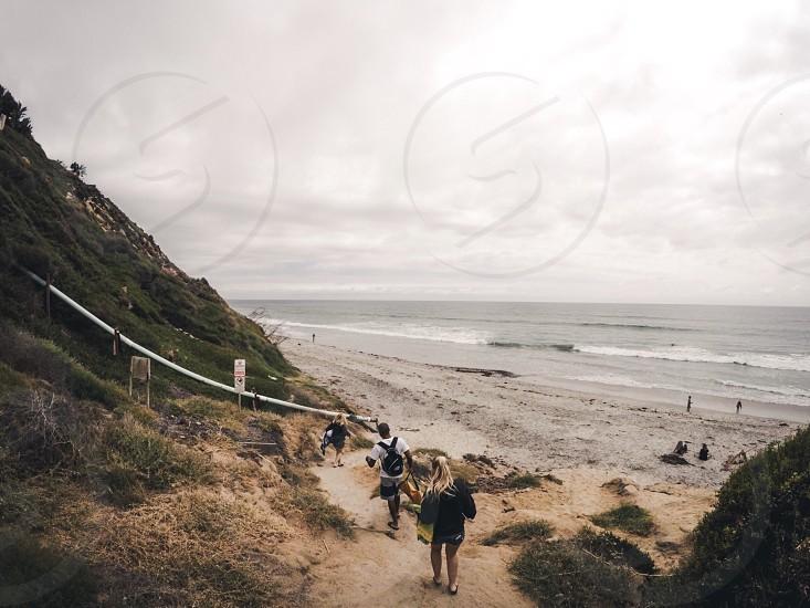Beach cliffs travel family California GoPro  photo