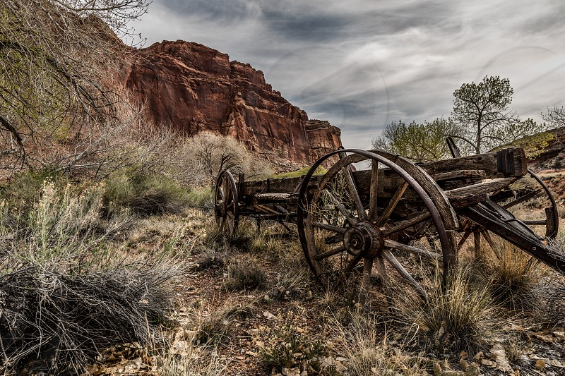 Capitol Reef National Park Abandoned wagon photo