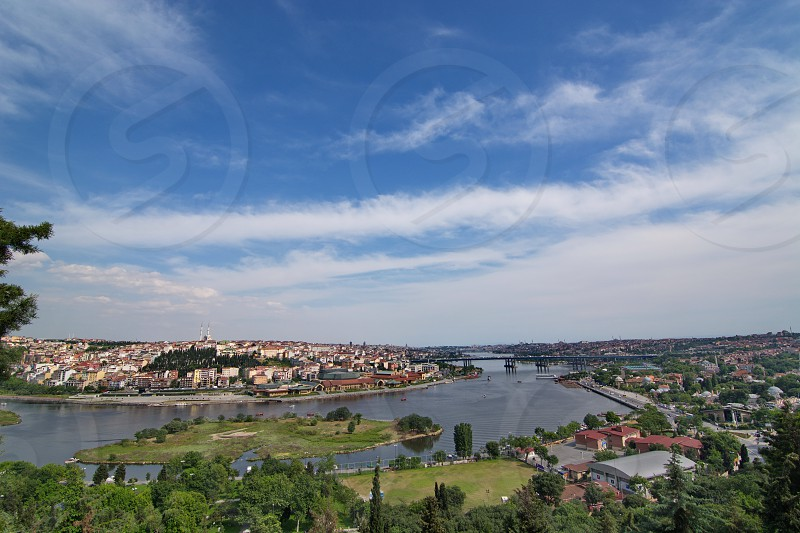 Part of Istanbul seen from the Pierre Loti hill photo