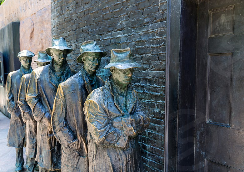 Franklin Delano Roosevelt Memorial in Washington Great Depression sculpture photo