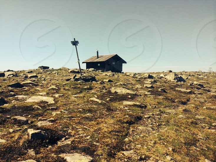 The Tourist cabin at Nevelfjell mountain at Lillehammer in NORWAY  photo
