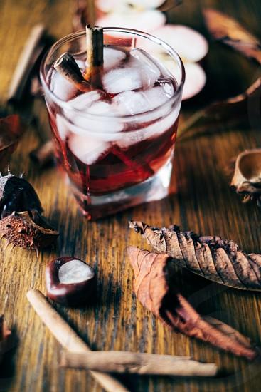 Fresh autumn coctail photo