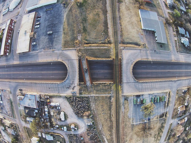 Drone aerial road geometry conceptual art street photography photo