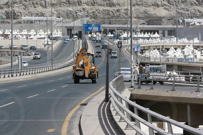 LisAm Middle East Mina Saudi Arabia KSA Jumarat  Area street cars truck photo