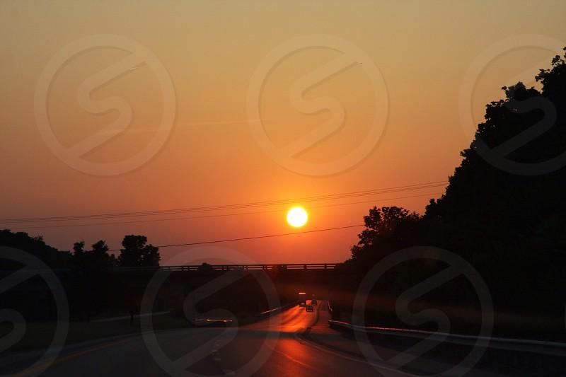 Driving into the beautiful destiny  photo