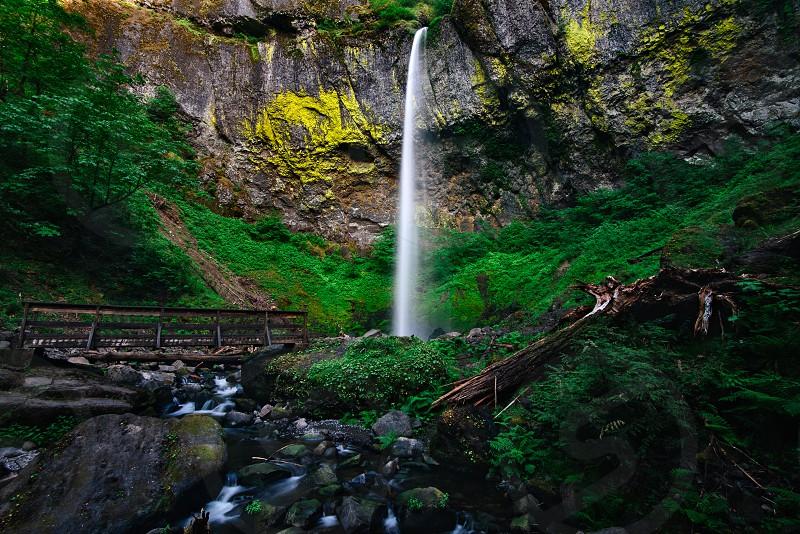 Oregon waterfall Elowah Falls Columbia River Gorge photo