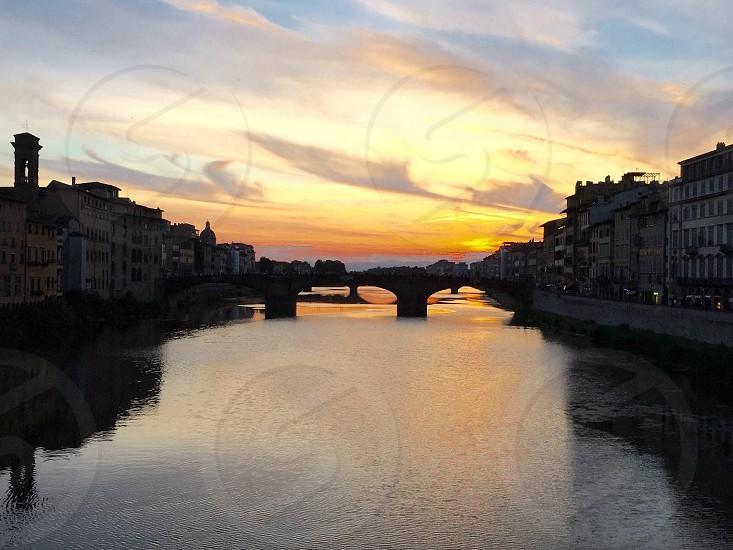 Florence Italy #travel #bridge #sunset #studyabroad #firenze #italy #abroad  photo